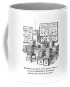 A Mathematician In A Room Full Of Stacked Papers Coffee Mug