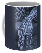 A Maze Ing Hand Cyan Coffee Mug