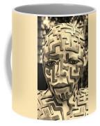 A Maze Ing Man 3 Sepia Coffee Mug