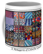 A Menagerie Of Colorful Quilts Triptych Coffee Mug