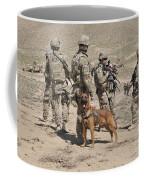 A Military Working Dog Accompanies U.s Coffee Mug