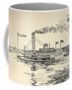 A Mississippi Steamer Off St Louis From American Notes By Charles Dickens  Coffee Mug by EH Fitchew