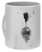 Tree Birds Clouds Abstract Paint Drips Coffee Mug