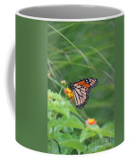 A Monarch Butterfly At Rest Coffee Mug