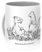A Monster Sits Coffee Mug
