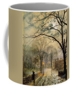 A Moonlit Stroll Bonchurch Isle Of Wight Coffee Mug by John Atkinson Grimshaw