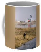 A Moose Walks On The On Reclaimed Land Coffee Mug