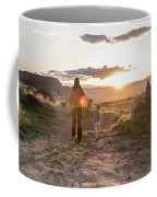 A Mother And Child Hike At Sunset Coffee Mug