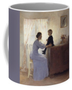 A Mother And Child In An Interior Coffee Mug by Peter Vilhelm Ilsted