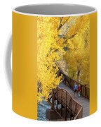 A Mother And Daughter Walking Coffee Mug