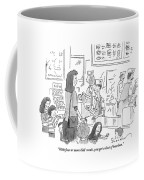 A Mother With 5 Or 6 Rambunctious Children Orders Coffee Mug by Danny Shanahan