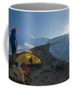 A Mountaineer Contemplates The Sun Coffee Mug