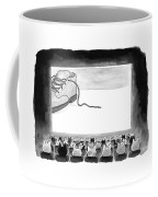 A Movie Theater Audience Of All Cats Watches Coffee Mug