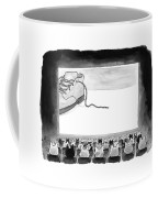 A Movie Theater Audience Of All Cats Watches Coffee Mug by Tom Toro