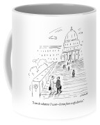 A Naked Congressman Walks Up The Steps Coffee Mug