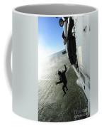 A Naval Air Crewman Jumps From An Coffee Mug