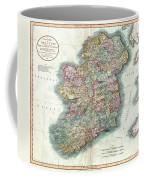 A New Map Of Ireland 1799 Coffee Mug