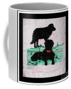 A Newfoundland Dog And A Labrador Retriever Coffee Mug