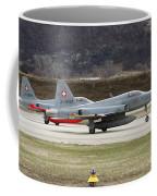 A Northrop F-5e Tiger Of The Swiss Air Coffee Mug
