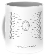 A Number Of Sperms Approach An Egg In The Shape Coffee Mug