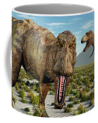 A Pack Of Tyrannosaurus Rex Dinosaurs Coffee Mug