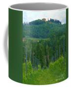 A Painting A Tuscan Vineyard And Villa Coffee Mug