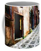 A Painting An Italian Street Coffee Mug