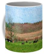 A Painting Cows Grazing And Newport Bridge Coffee Mug