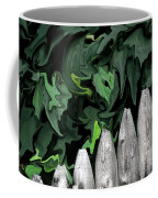 A Painting Fence And Leaves Dali-style Coffee Mug