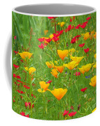 A Painting Tuscan Poppies Coffee Mug