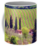 A Painting Tuscan Vineyard Coffee Mug