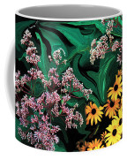 A Painting Wild Flowers Dali-style Coffee Mug