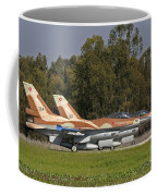 A Pair Of F-16c Barak Of The Israeli Coffee Mug