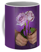 A Pair Of Purple Roses Coffee Mug