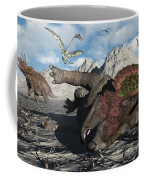 A Pair Of Triceratops Trapped Coffee Mug