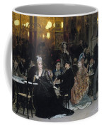 A Parisian Cafe Coffee Mug by Ilya Efimovich Repin