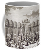 A Parterre With Orange Trees In The Garden Of The Lichtenstein Palace Coffee Mug