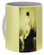 A Partially Draped Nude Coffee Mug by Charles Chaplin