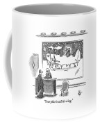 A Passenger Watches An Airplane In The Freezing Coffee Mug