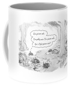 A Patch Of Leaves Wonders Whether It Itself Coffee Mug by Tom Toro