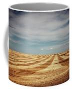 A Pattern Of Stripes Across A Farmers Coffee Mug