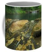 A Peaceful Early Morning At Little Niagra Waterfall A Coffee Mug