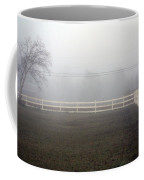 A Picket Fence In An Early Morning Mist Coffee Mug