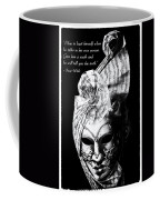 A Picture Of A Venitian Mask Accompanied By An Oscar Wilde Quote Coffee Mug