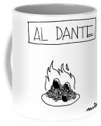 A Plate Of Spaghetti And Meatballs Is Burning Coffee Mug