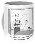 A Policeman Is Seen In An Interrogation Room Coffee Mug
