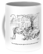A Policewoman To A Naked Man Coffee Mug