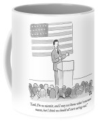 A Politician Delivers A Campaign Speech Coffee Mug