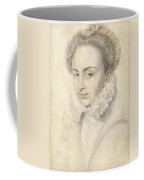 A Portrait Of A Young Woman In A Ruffled Collar Coffee Mug