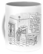 A Postman Reads A Letter Left Coffee Mug